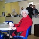 Drinking Coffee in the Community Café