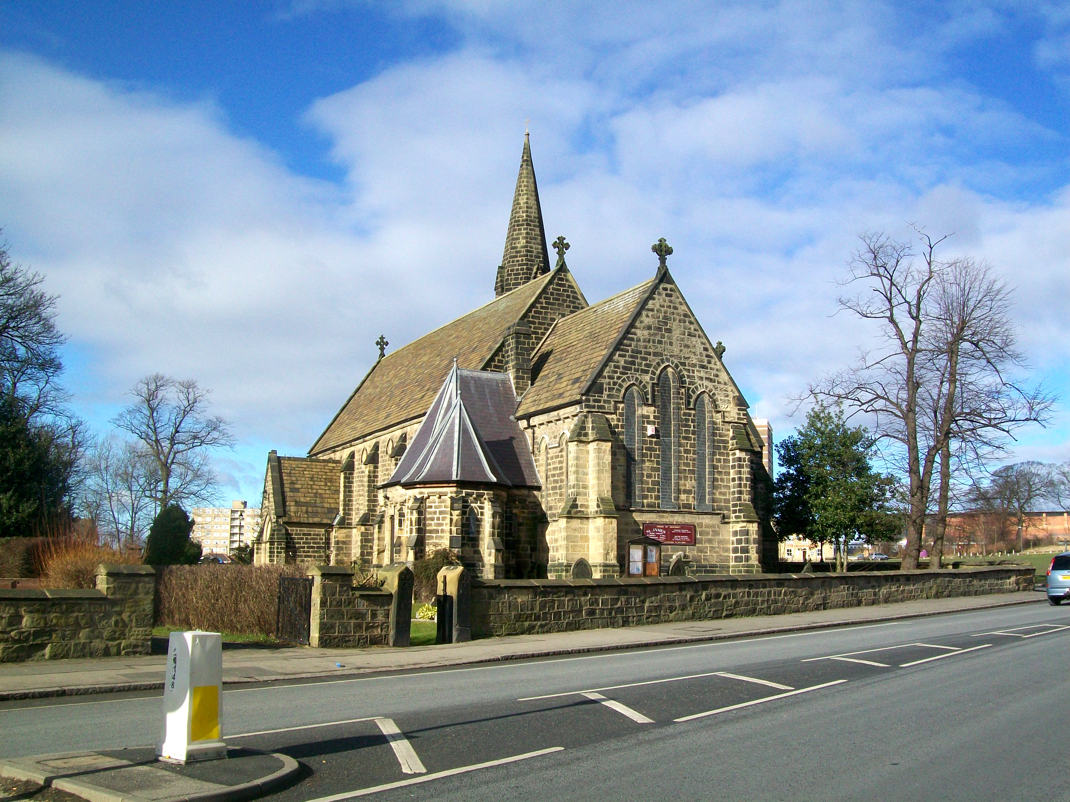 View of Saint James' from York Road